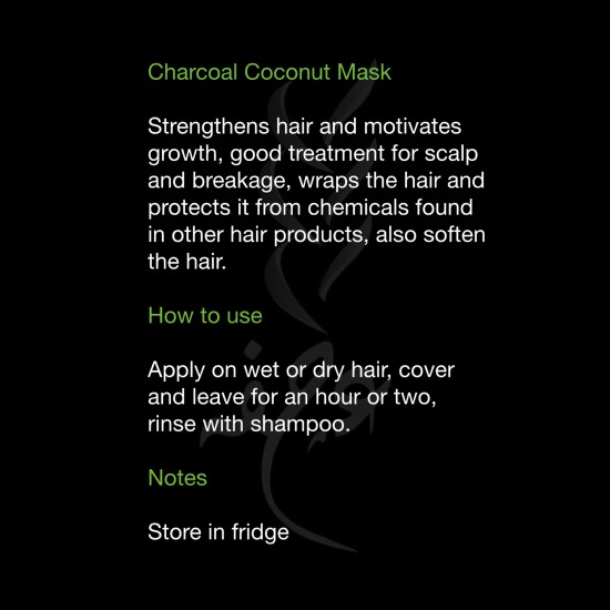 Charcoal Coconut Mask